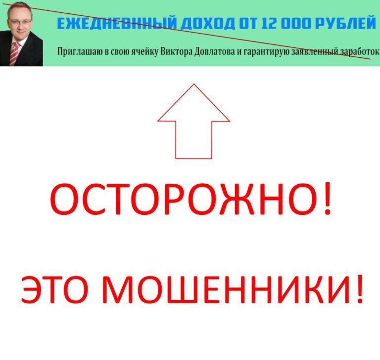 Мошенник Виктор Довлатов и его ежедневный доход от 12 000 рублей. Отзывы