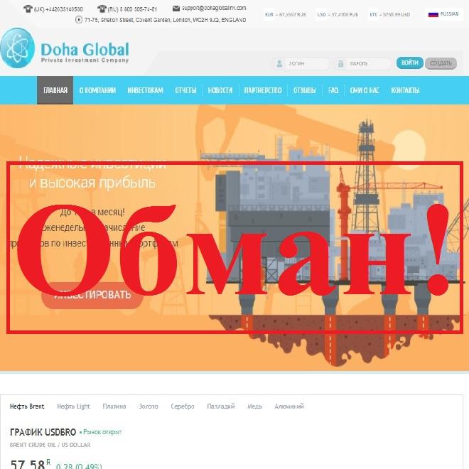 Очередной HYIP, или от 15% дохода в месяц. Отзывы о проекте Doha Global