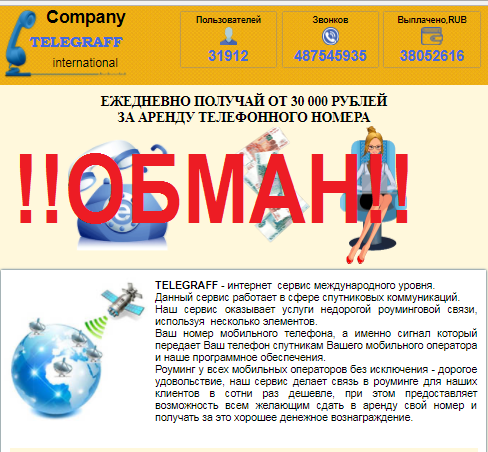 Company TELEGRAFF international  — отзыв о мошенническом курсе.