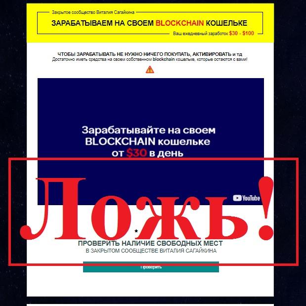 Волшебные кошельки и закрытое сообщество Виталия Сагайкина. Отзывы о проекте «Прибыльный Blockchain-wallet»
