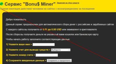Отзывы о блоге Полины Богачевой и ее заработке на сервисе Bonu$ Miner