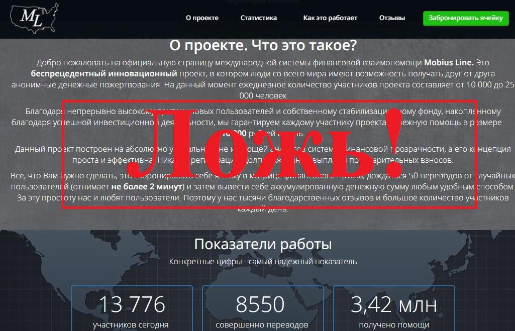 10 000 рублей от 50 человек, или 200 рублей в окно. Отзывы о проекте Mobius Line