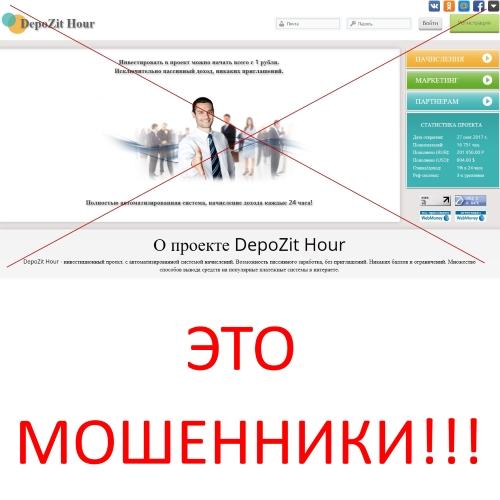 DepoZit Hour – инвестиционный проект. Отзывы