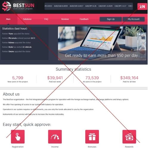 Организация BestSun. Отзывы о сайте