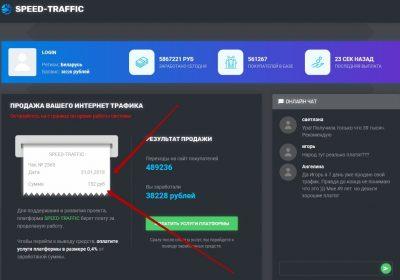 SPEED-TRAFFIC – отзывы о заработке на интернет-трафике