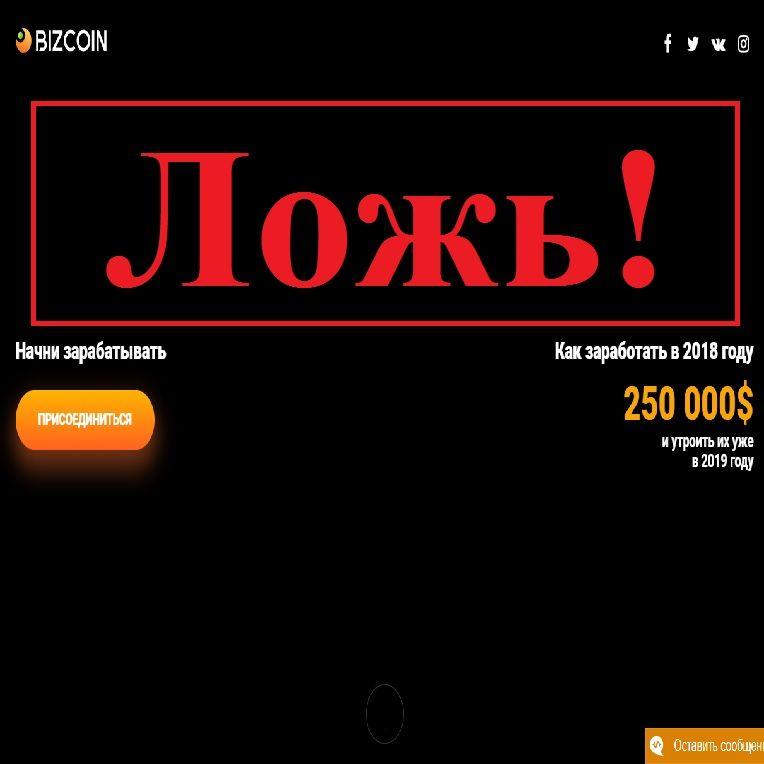 Как заработать в 2018 году 250 000 долларов? Отзывы о проекте Bizcoin