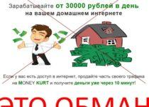 MONEY KURT – зарабатывайте от 30 000 рублей в день на вашем домашнем интернете. Отзывы