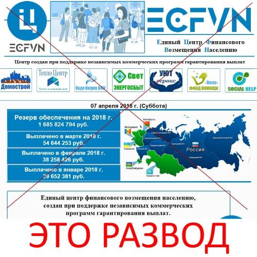 Единый центр финансового возмещения населению – ECFVN. Отзывы