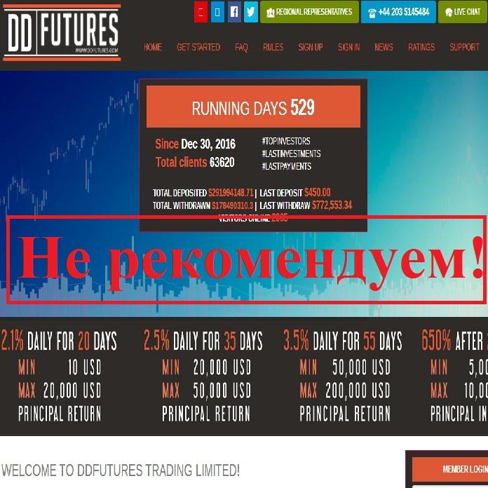 Ещё один хайп – утка! Отзывы о проекте DDFutures Trading Limited