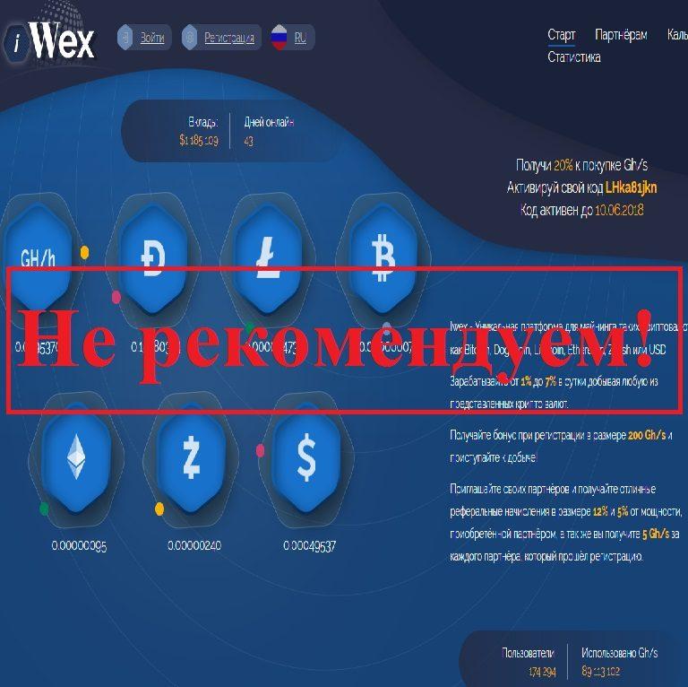 «Уникальная» платформа для майнинга! Отзывы о проекте Iwex