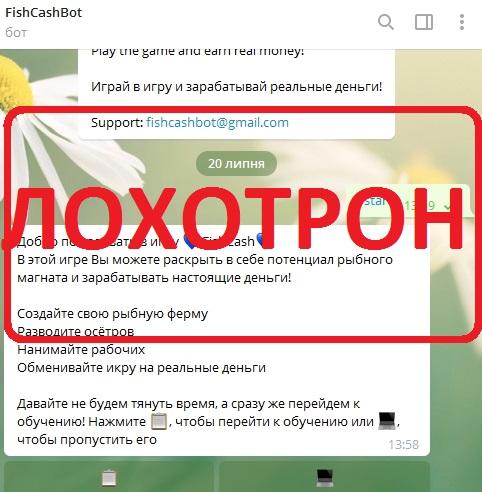 Экономическая онлайн-игра с выводом денег в виде телеграм-бота. Отзывы о FishCash