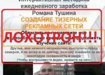 Метод заработка от Романа Трушина на тизерных рекламных сетях — отзывы о лохотроне