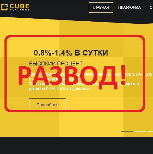 Инвестиции в компанию CUBE Platform — отзывы о хайпе
