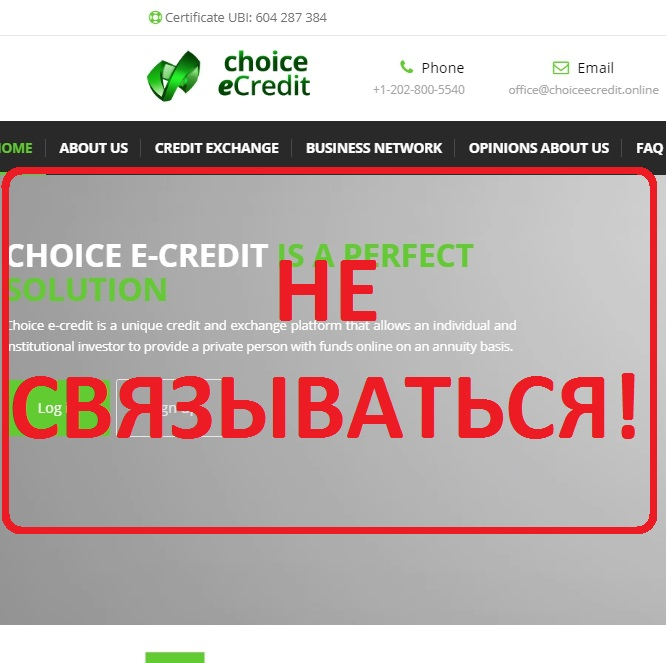 CHOICE E-CREDIT — отзывы о проекте