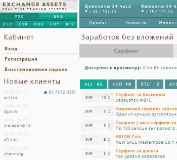 Exchange-assets.com – отзывы о проекте