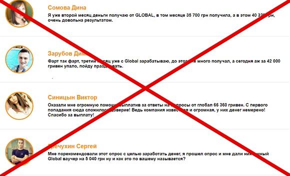 Ежемесячный мотивированный опрос граждан от Global Corporation– отзывы
