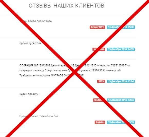 Nixtrade: отзывы и обзор проекта nixtrade.biz