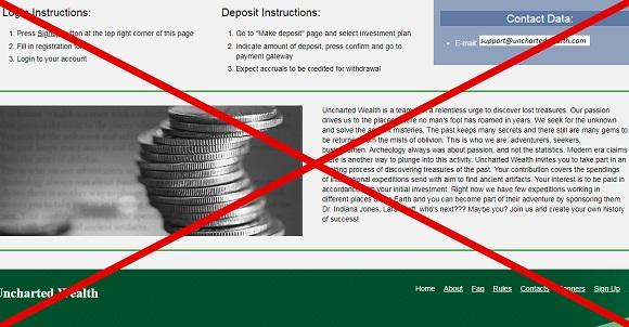 Uncharted Wealth: отзывы и обзор unchartedwealth.com
