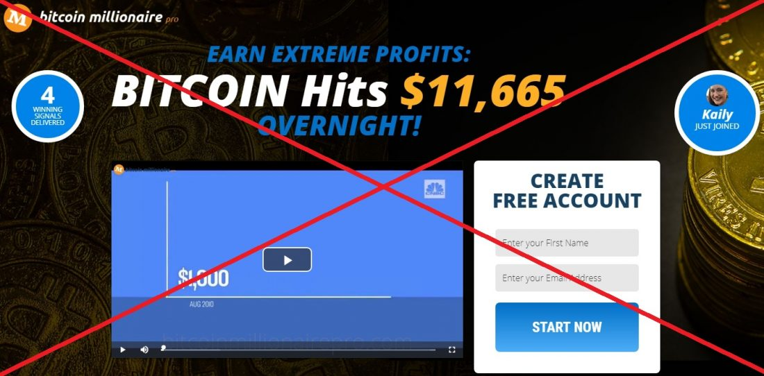 Bitcoin Millionaire Pro - мошенническая программа, отзывы