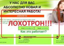 Удаленная работа в интернете оператором ПК — отзывы
