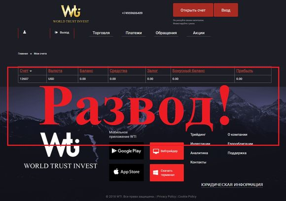 World trust invest - отзывы о компании Worldtrustinvest.com