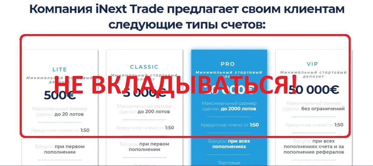 iNext Trade - отзывы о системе iNext