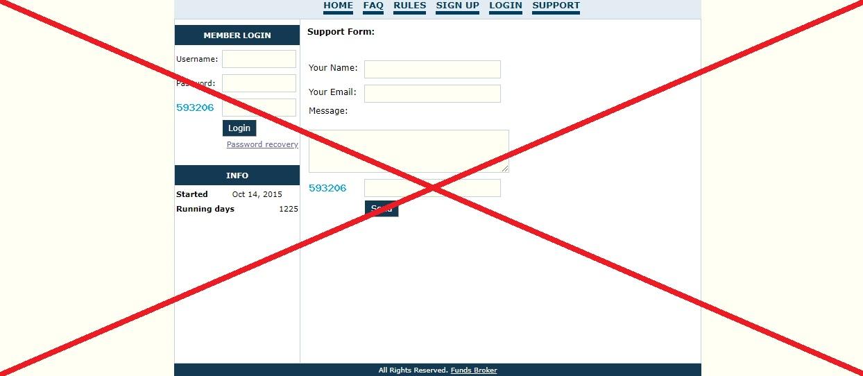 Funds Broker - отзывы о проекте funds-broker.com