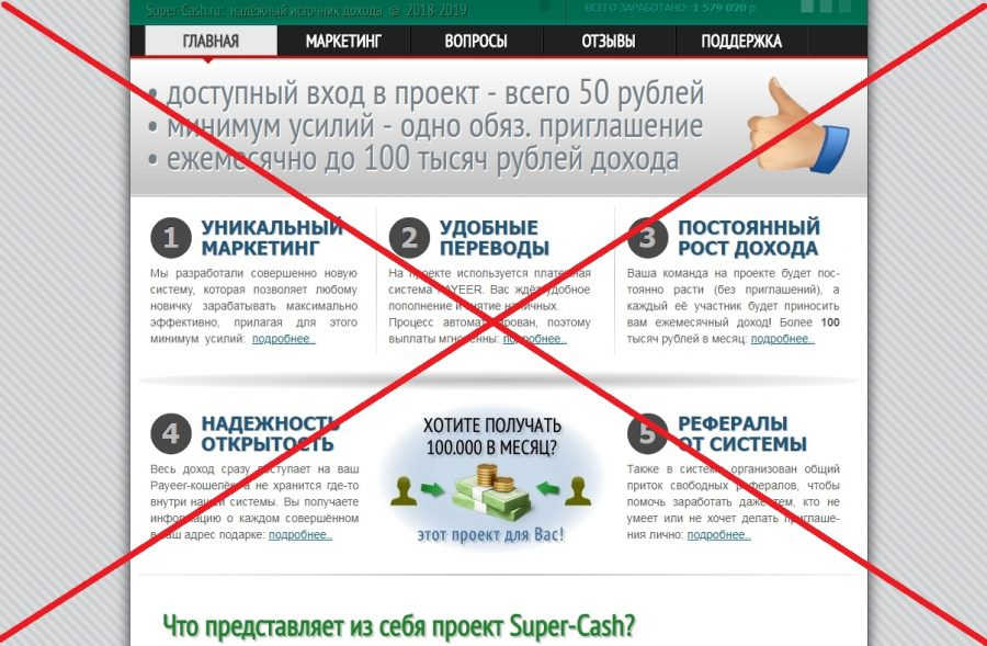 Отзывы о Super Cash - обзор super-cash.ru