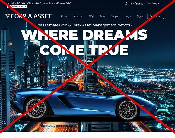 Corpia Asset - отзывы и анализ corpiaasset.com