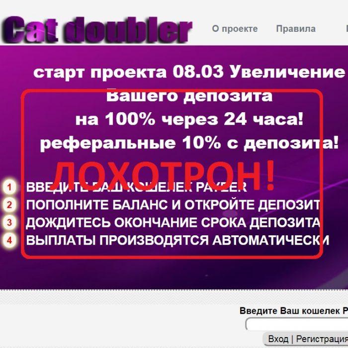 Cat doubler — обзор, отзыв об bon-bonus.ru