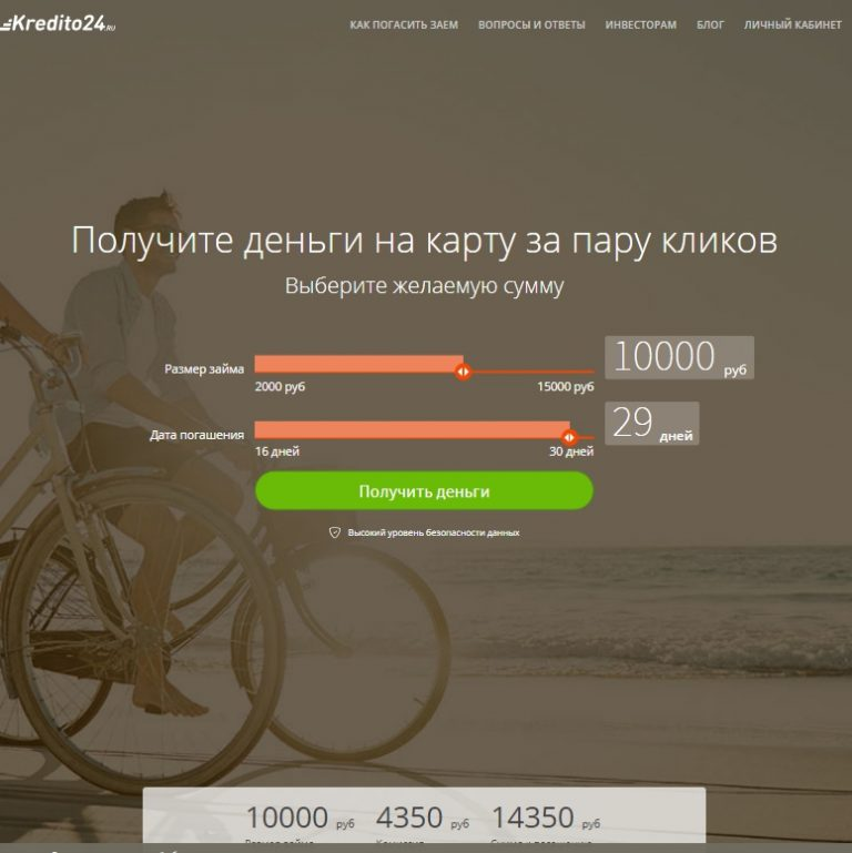 Займы онлайн Kredito24 — отзывы о займах kredito24.ru