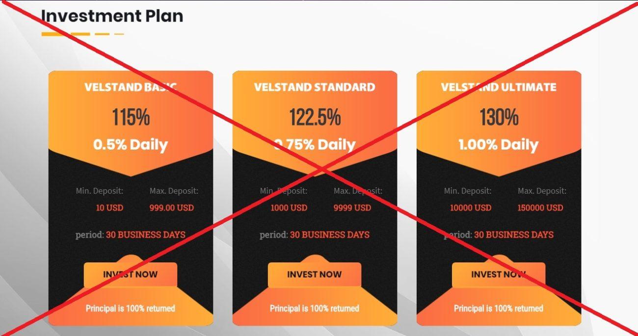 Velstand Trading - инвестиции в арбитраж криптовалюты, реальные отзывы