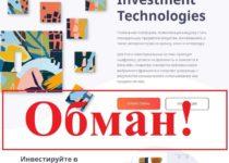 Investment Technologies – отзывы и обзор investtech.io