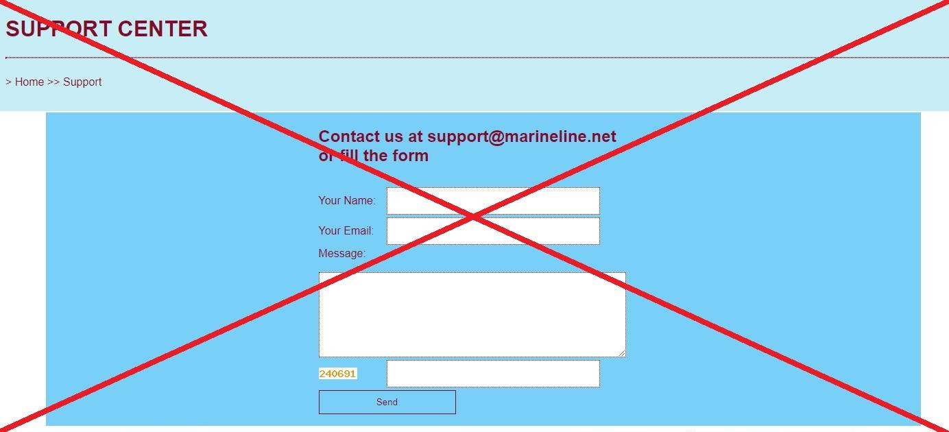 MARINELINE LTD - реальные отзывы о marineline.net