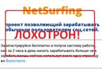 Проект NetSurfing — отзывы и разбор