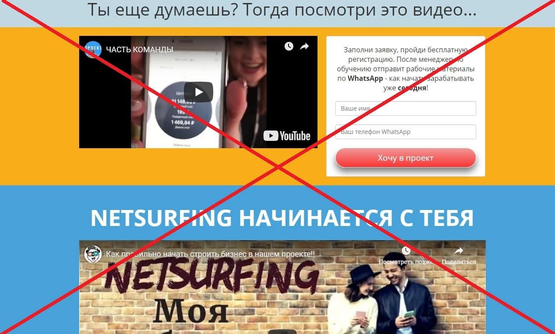 Проект NetSurfing - отзывы и разбор