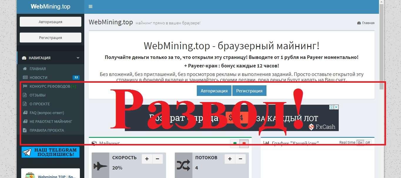 Отзывы о Webmining - браузерный Майнинг