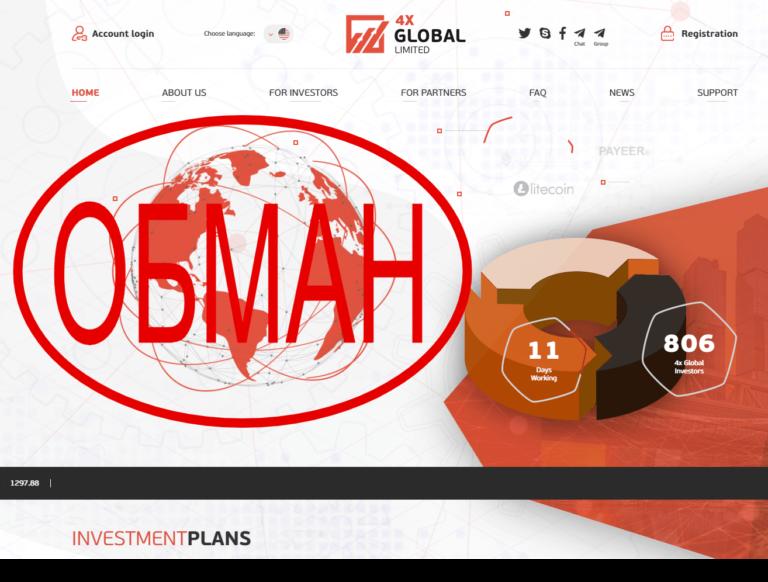 Отзывы о 4x-Global. Обзор 4xglobal.trade