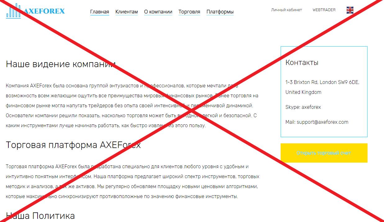 AXEForex о компании