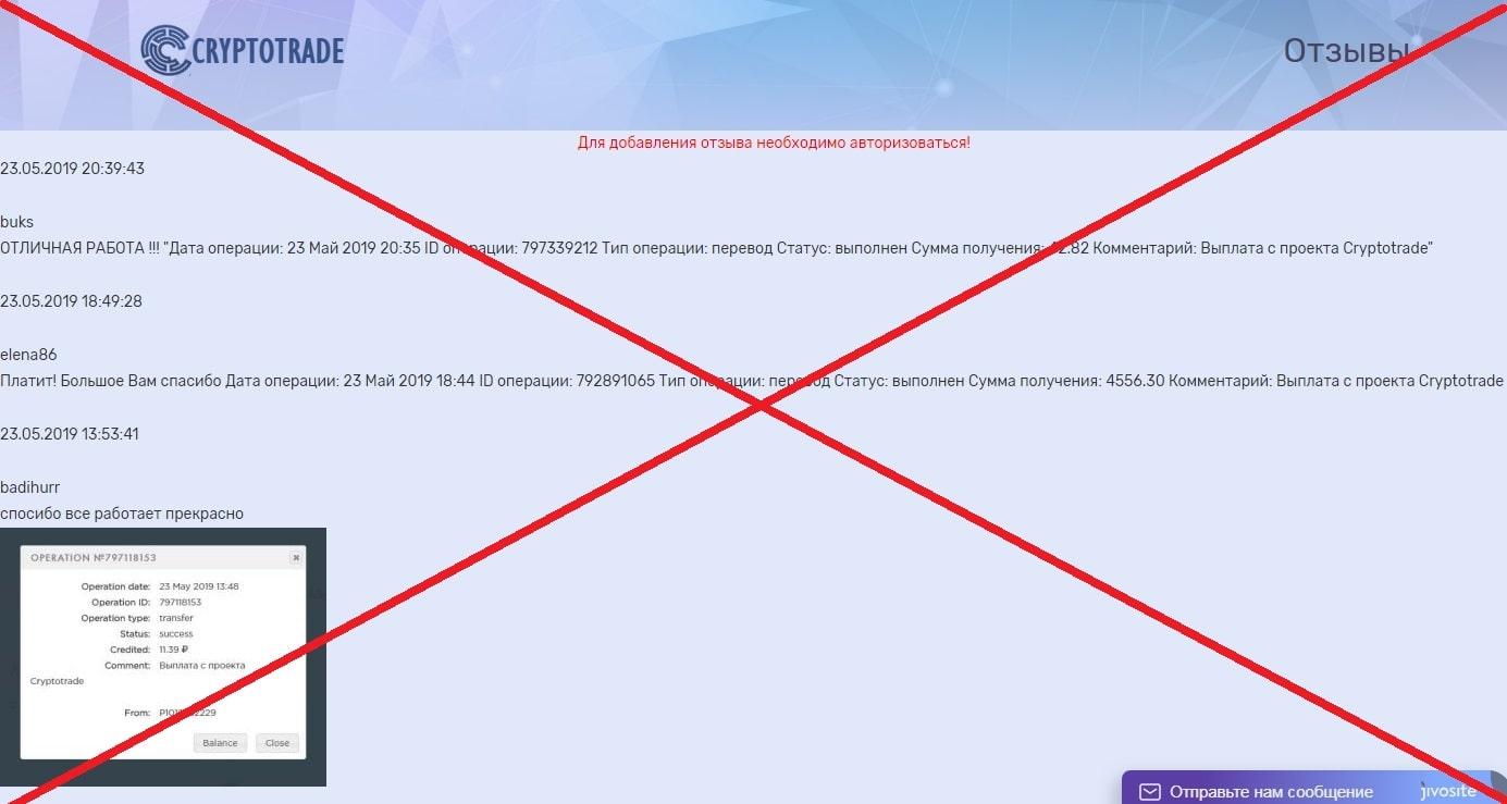 Cryptotrade - реальные отзывы о платформе cryptotrade.pw