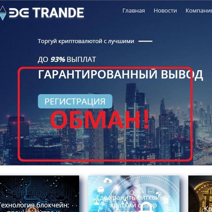 Be Trande — отзывы о платформе be-trande.com