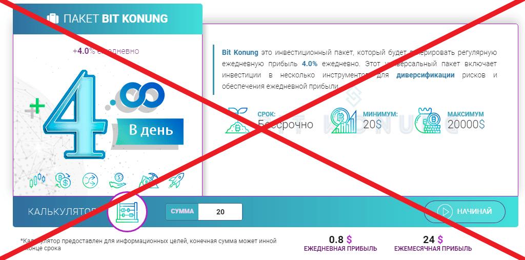 Bit Konung - отзывы о платформе bitkonung.com