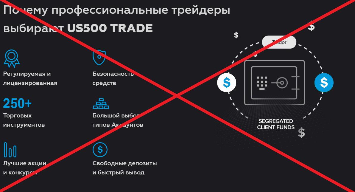 US500 Trade - отзывы и обзор us500.trade