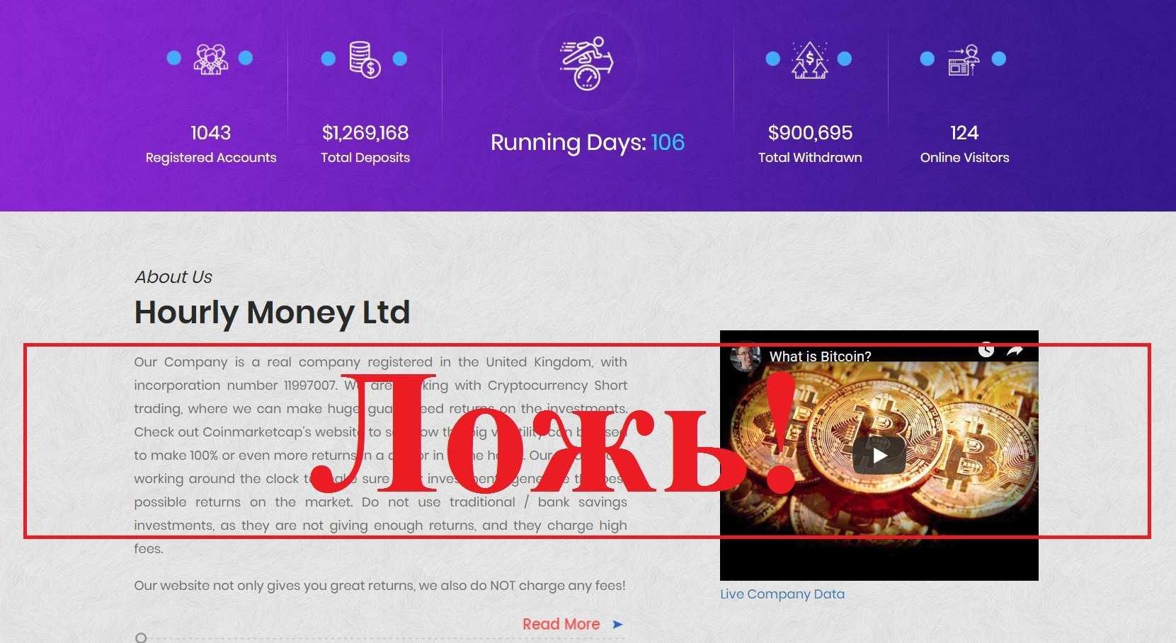 Hourly Money – реальные отзывы о hourly.money