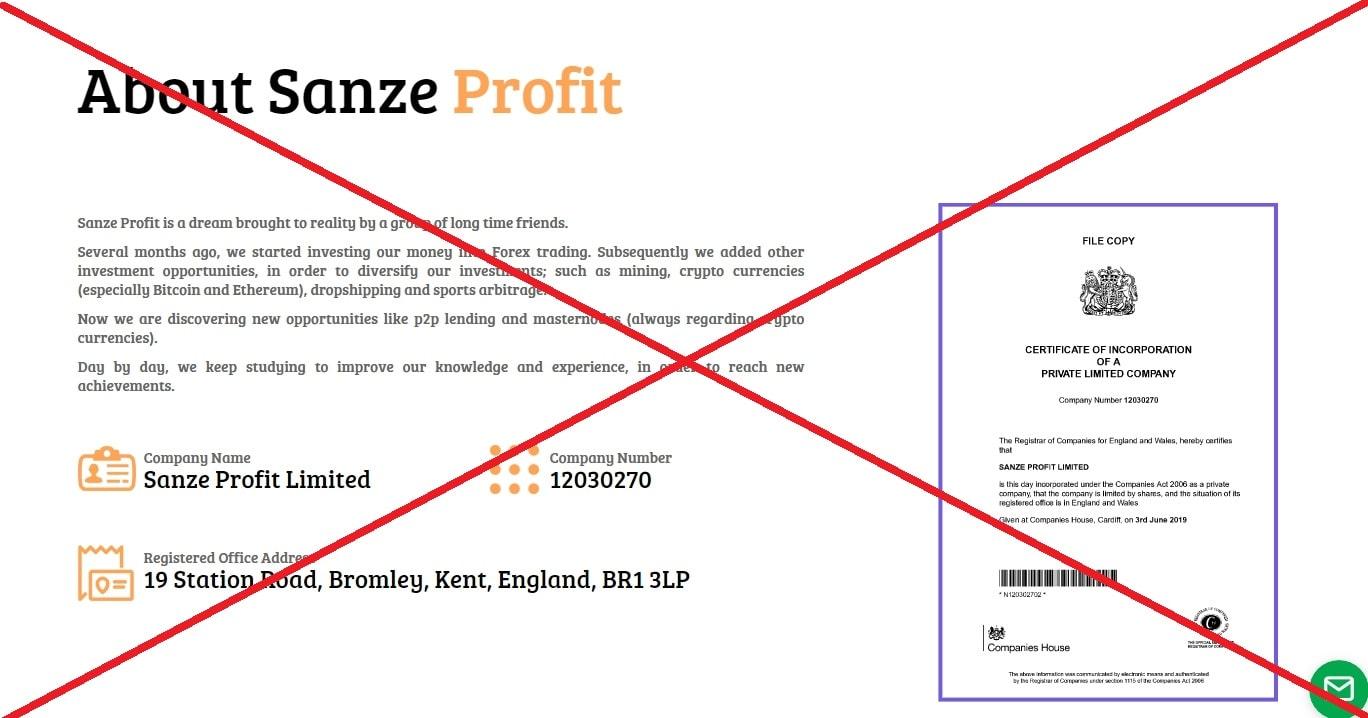 Sanze Profit - отзывы о проекте