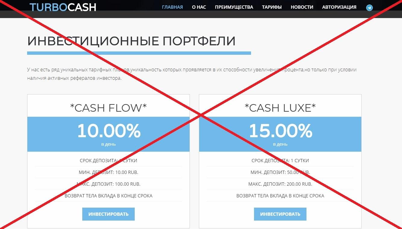 Turbocash - отзывы. Инвестиции в turbocash.info