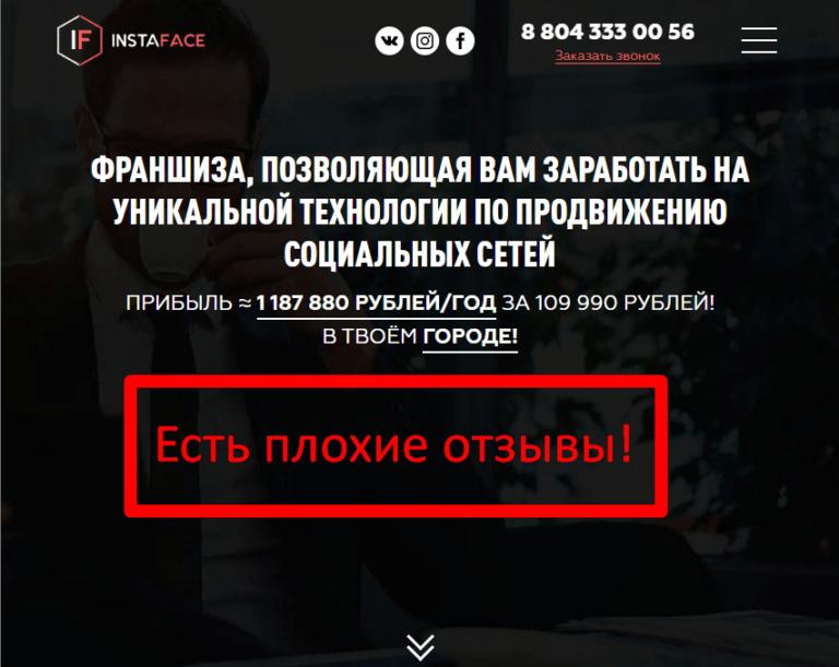 InstaFace — отзывы о франшизе Ивана Кандзюбы
