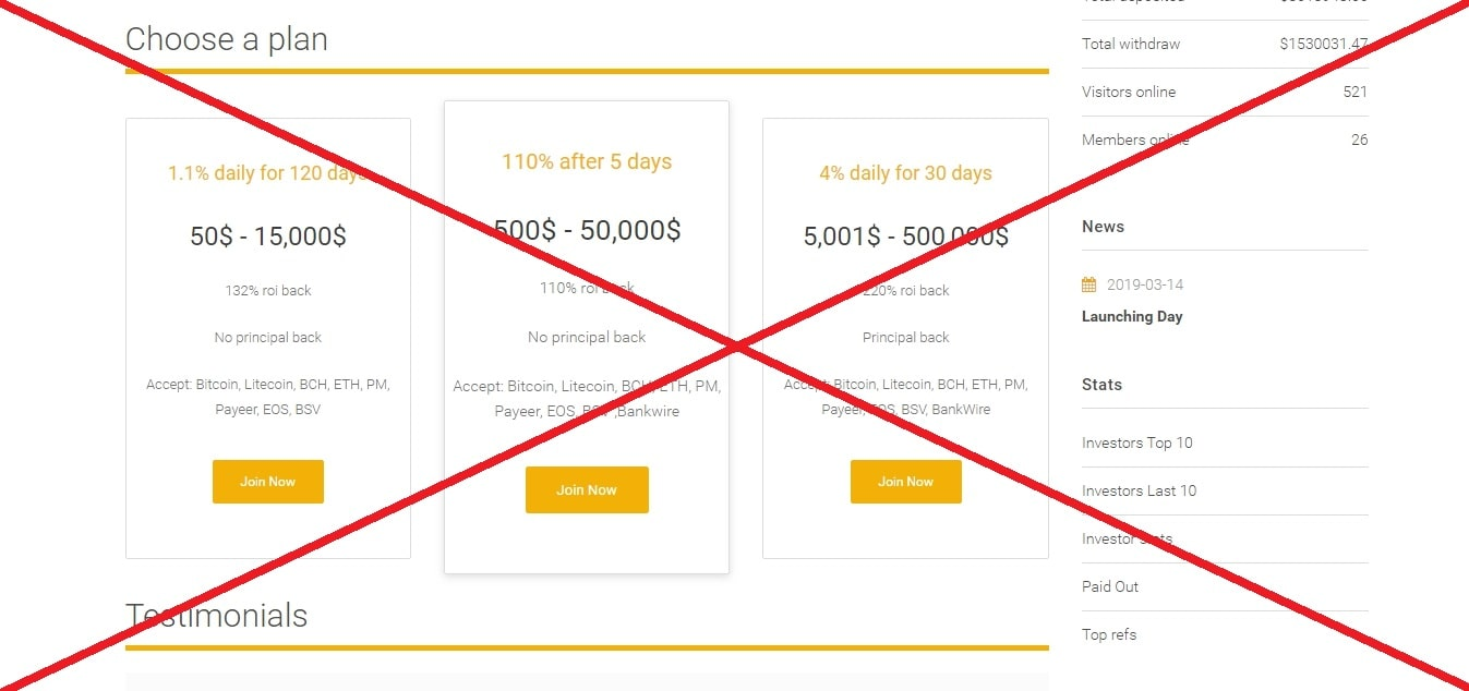 3deposit.com - реальные отзывы о проекте