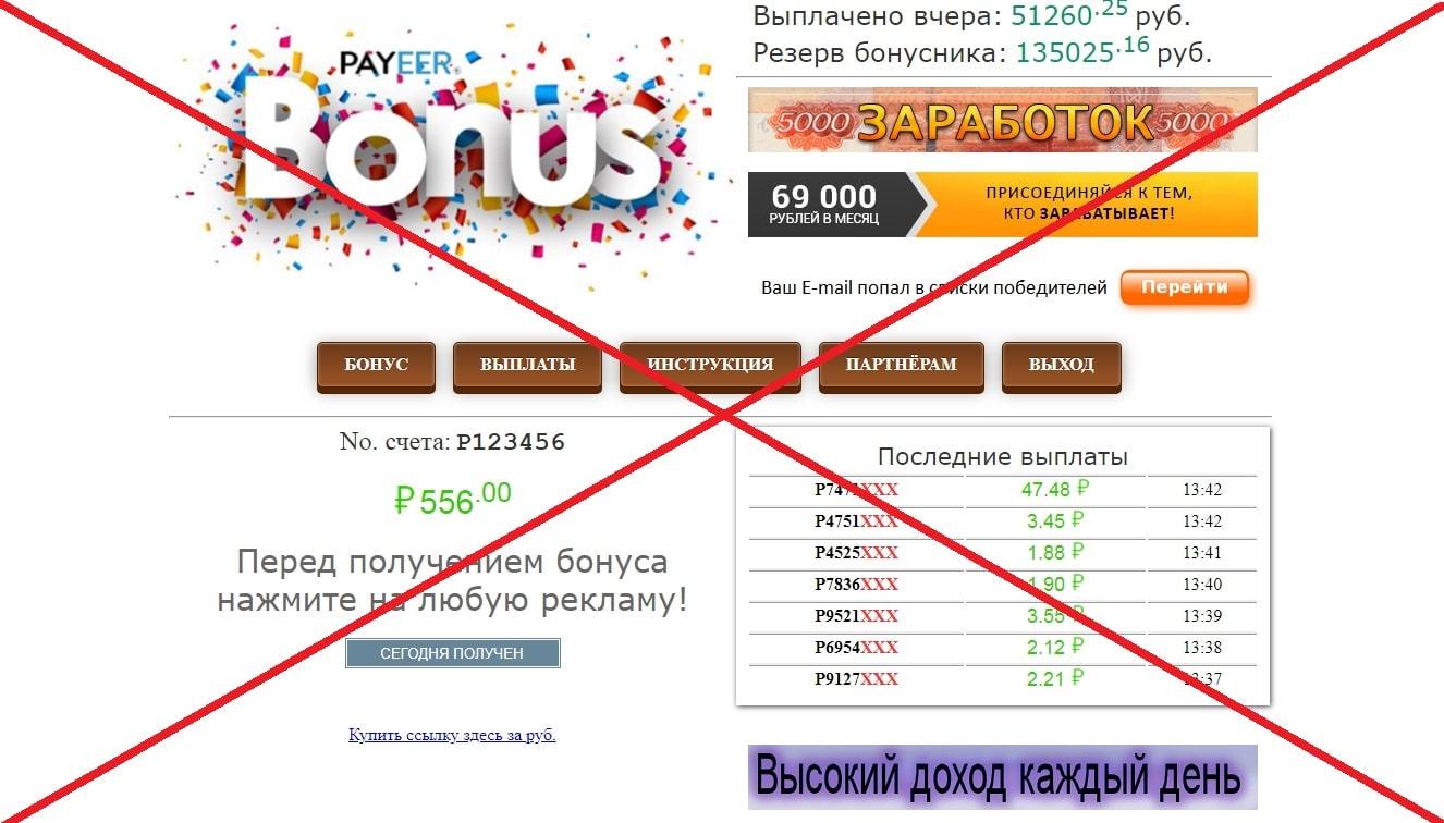 Отзывы о Payeer Bonus - обман или правда?