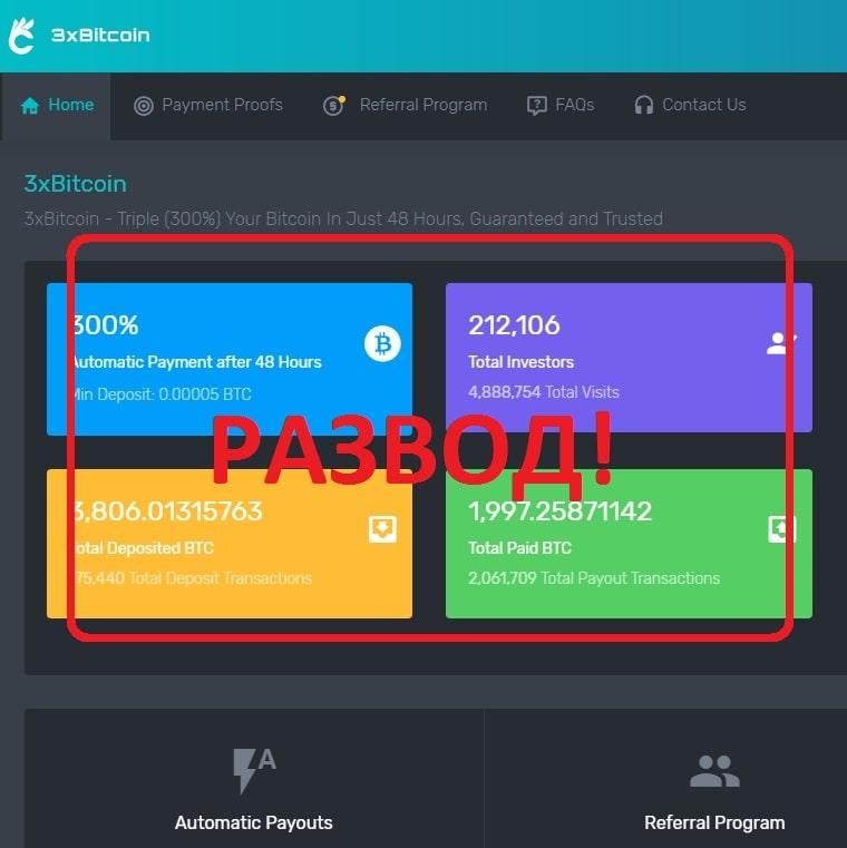 3xBitcoin — отзывы и обзор 3xbitcoin.com
